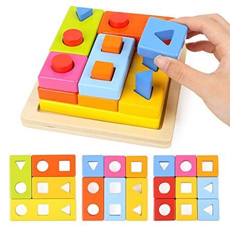 Top Bright Shape Blocks Stacking (8558)-1