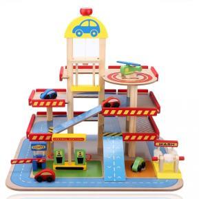Eva Toys Ξύλινο Γκαράζ 4όροφο W04B034