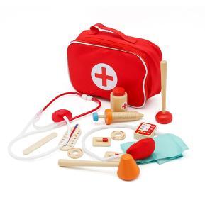 Eva Toys Ξύλινο Σετ Ιατρικά Εργαλεία σε Τσαντάκι W10D274