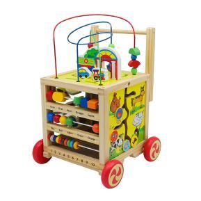 Eva Toys Ξύλινος Κύβος Προγραφής & Περπατούρα 2 σε 1 W11B128